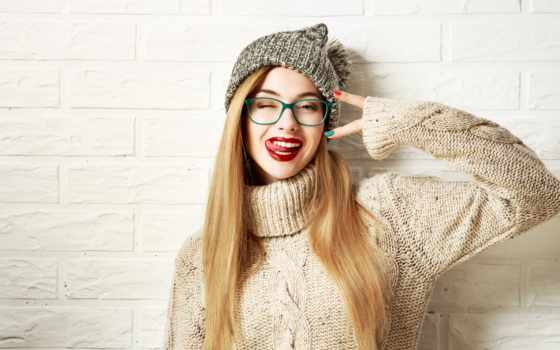hipster, девушка, crazy, winter, going, фото, funny, stock, одежда, white,