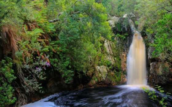sud, afrique, ecran, природа, overberg, fonds, fond, каскад, tlcharger, sur,