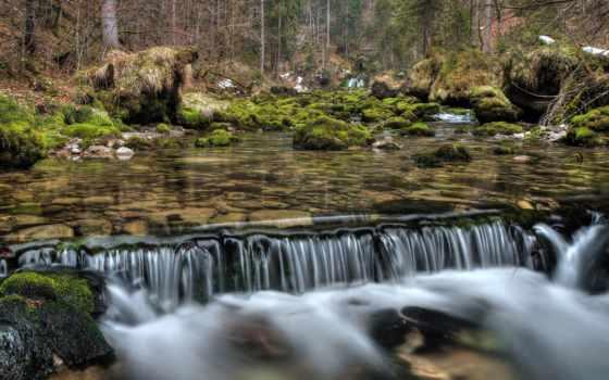 музыка, медитация, rivière, magnifique, ecran, fonds, бе, tombe, извилины,