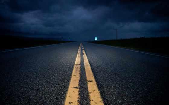 noche, carretera, una, imágenes, fotos, iker, del,