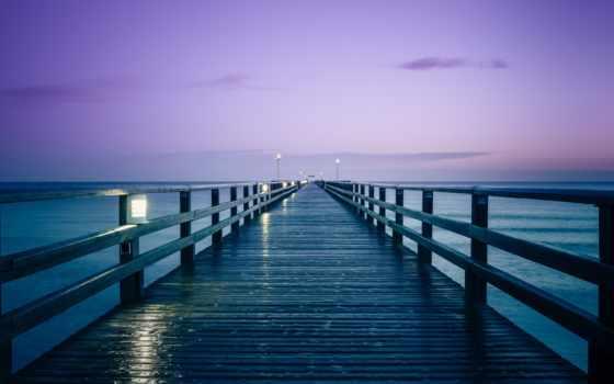 море, rising, pier, балтийское, german, солнца, утро, sun, страница, природа,