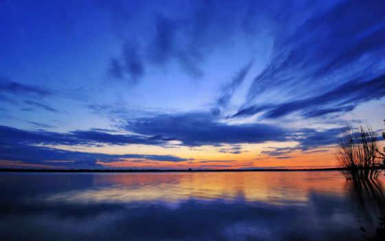 закат, blue, закаты, озеро, рассветы, зеркало, закате, www, betuyab, опубликовано, eu,