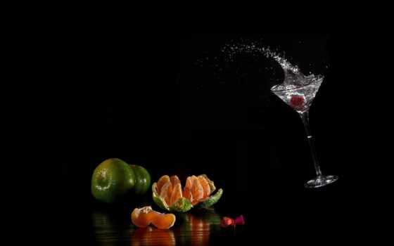 water, брызги, капли, glass, жидкий, black, лайм, фоны, mandarin, мандарины, апельсины,