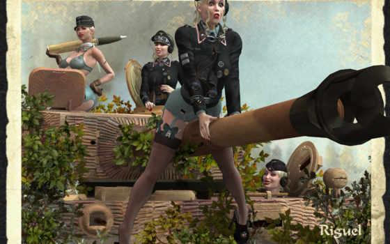девушки, военные, riguel, дизайнера, мб, от, мировой, войны, сша, персонажи, второй,