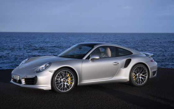 porsche, turbo, front, side, تربو,