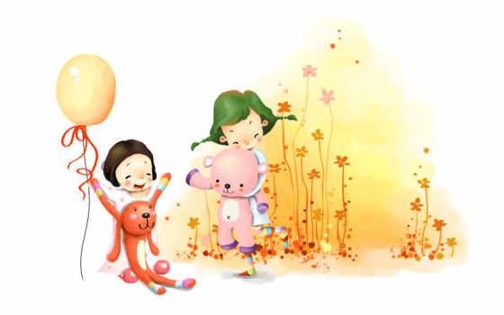 девочки с плюшевыми игрушками