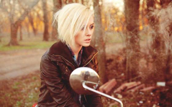 devushka, красивая, мотоцикле