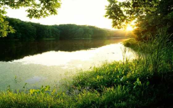water, air, sun, зелёный, качестве, графия, солнца, природа,