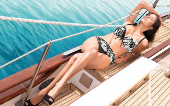devushki, яхта, палуба, яхте, море, девушка, girls, количество, красивые,