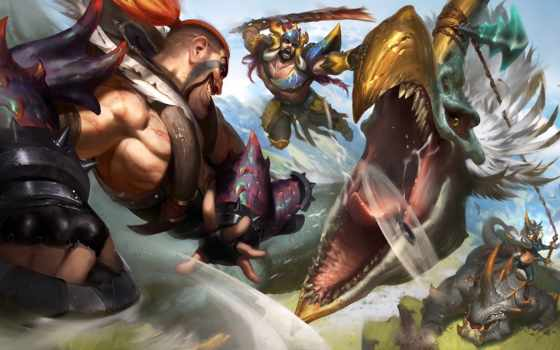 league, зверь, hunter, legends, rp, skin, skins, champion, sejuani, tryndamere,