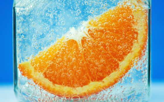 оранжевый, плод, долька, meal, water, bubble