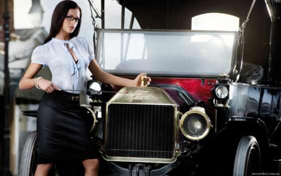 авто, девушка, девушки, девушек, ford, автомобилями, ретро, автомобиле, дорогущие, красивые, автомобили, очень,