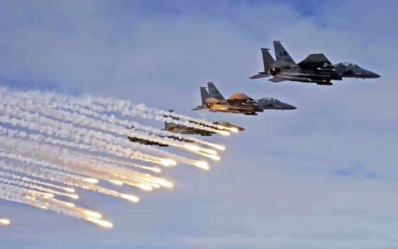 flares, strike, истребители
