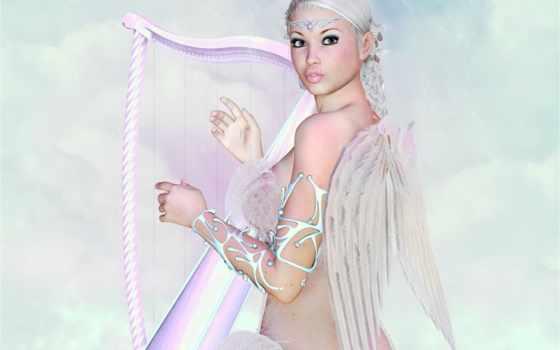 ангелы, angels, cute, fantasy,