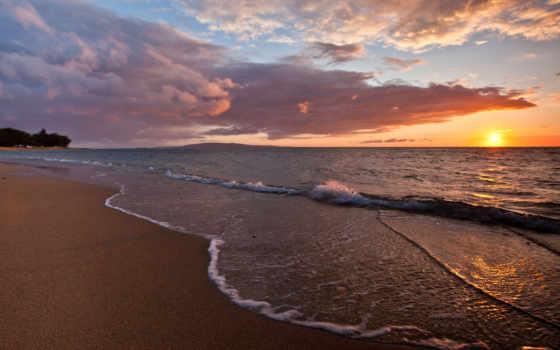 песок, волны