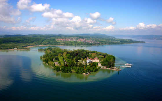 ozero, боденское, германии, озера, остров, германия, боденском, озере, майнау,