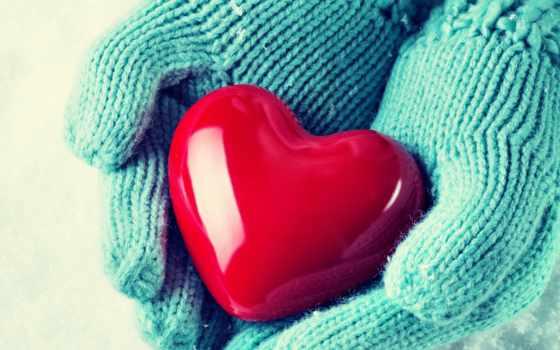сердце, руки, варежки