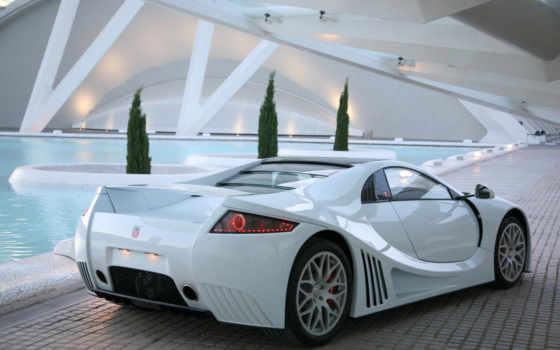 белый суперкар