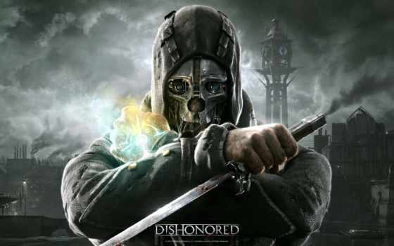 dishonored, маска, корво, маску, игры, под, ассасина,