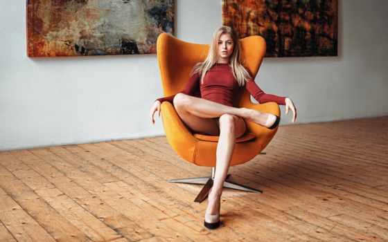 девушка, кресло, взгляд, джордж, чернядьев, фотограф, красивая, платье, картины,