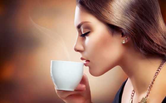 coffee, девушка, чая, devushki, drinking, стоковое, cup, скачивайте, иллюстрации,