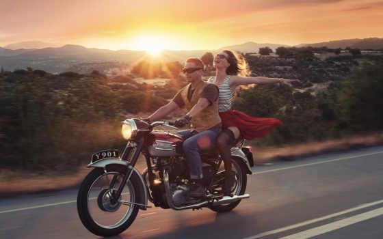 мотоцикл, красивый, pair