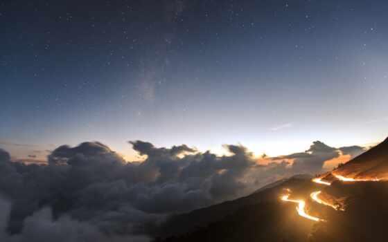 облака, вечер