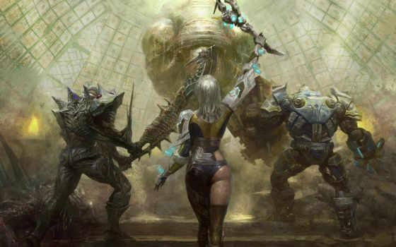 fantasy, warriors, девушки