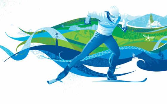 лыжные, гонки, спорта