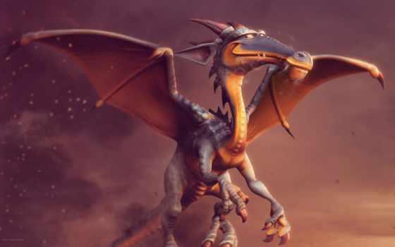 дракон, крылья, ortega