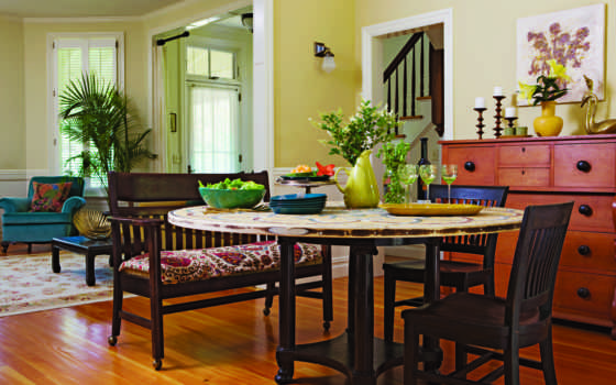 интерьер, design, стиль, стулья, кувшин, без, всяких, house,