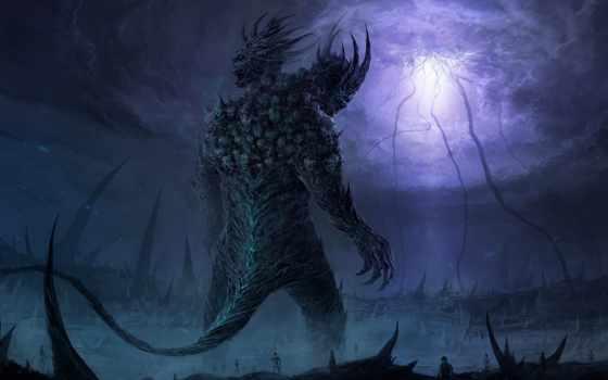 monster, гигант, art, череп, скелеты, rift, chriscold,