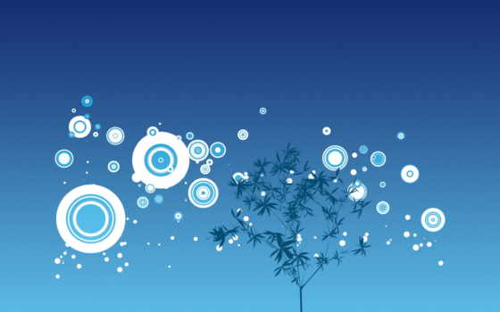 дерево, круги, рисунок