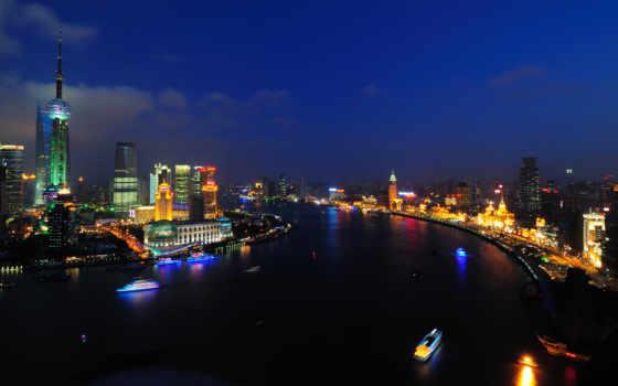 shanghai, города, bund, разрешением, красивые, широкоформатные,