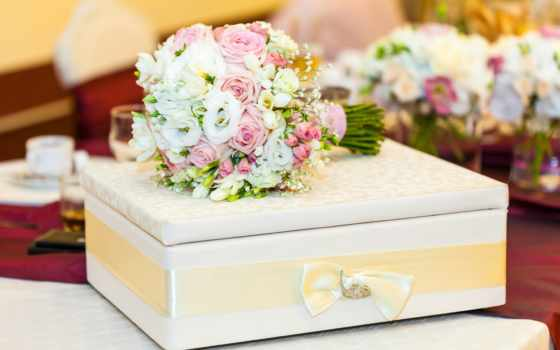 свадьба букет, шкатулка