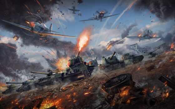 thunder, war, game, танк, plane