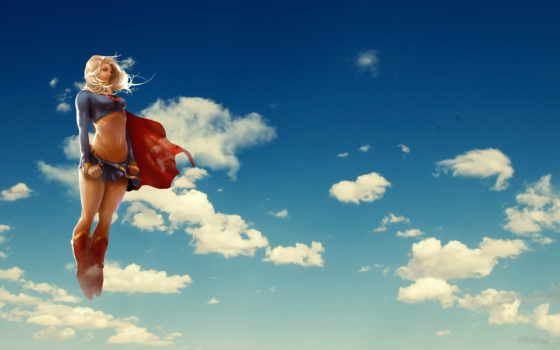 supergirl, girl, coloring, super,, супердевушка, clouds, girls, comics,