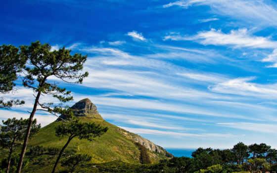 горы, небо, priroda