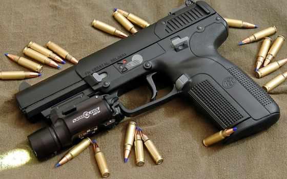 calibre, armas, alto, arma, fuego, una, con,
