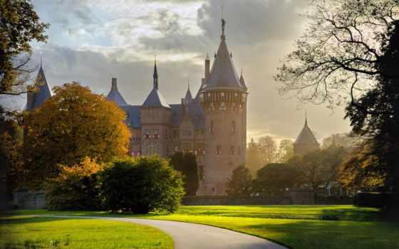 amsterdam, castle, природа, красивый