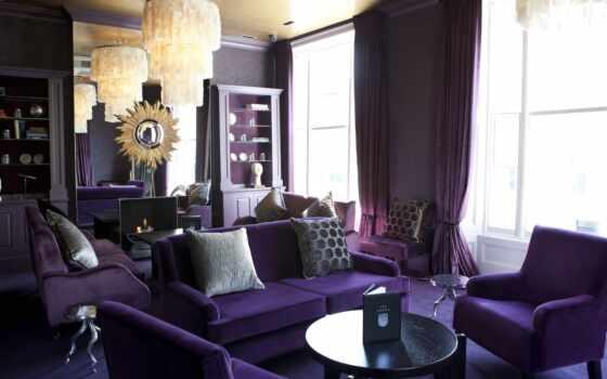 purple, стена, интерьер, color, сочетание, тоне, one, accent, яркий, stylish, decoration