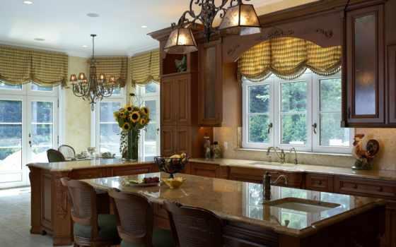 кухни, дизайн, потолки