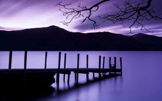природа, сумерки, закат