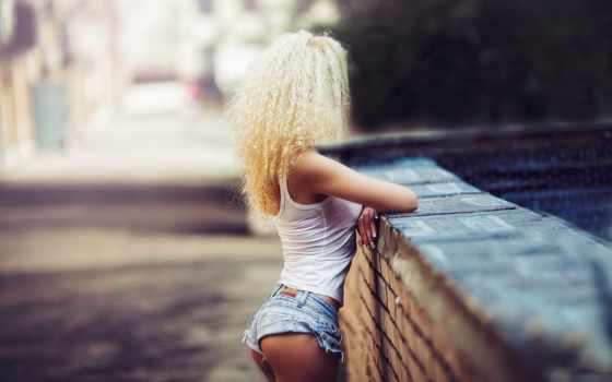 девушка, шортах, джинсовых, трусы, devushki, blonde, karen, imagesbase, girls, abramyan, задницу,