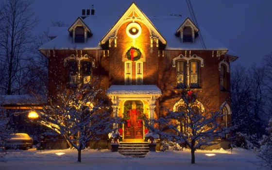 christmas, home