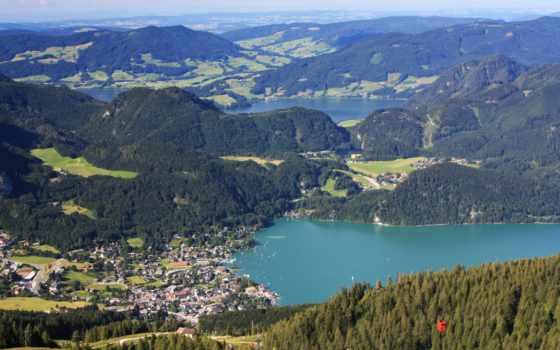 природа, картинка, landscape, горы, австрия, леса, первую,