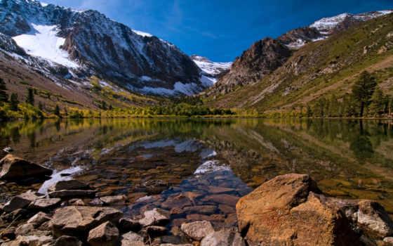 гора, озеро, sierra, nevada, mountains, montaña, hdw, reflexión,