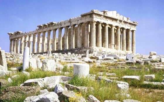 акрополь, athens, греции