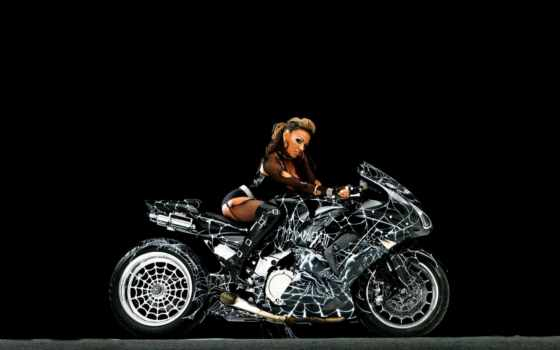 мотоцикл, паук, мотик
