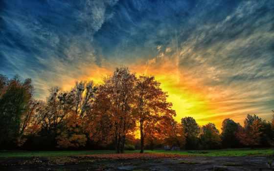 осень, вечер, вечера, solarhome, приятного, хороший, страница, park, закат, коллекция,
